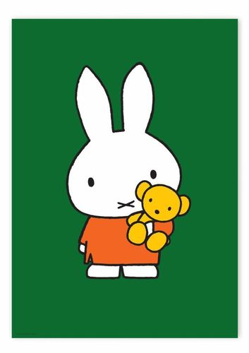 Poster Miffy with little bear, 42 x 59.4 cm