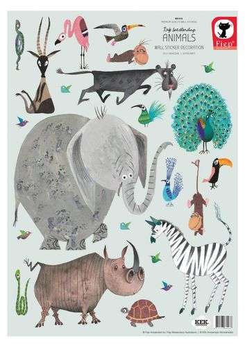 Fiep Westendorp Wandtattoos Animals, 42 x 59 cm