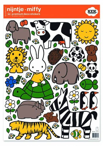 Miffy Wandtattoos Miffy riding on turtle, 42 x 59 cm