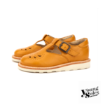 Rosie T-Bar Shoe Mustard Leather