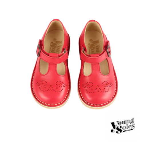 Penny T-bar Shoe Rouge Red Leather