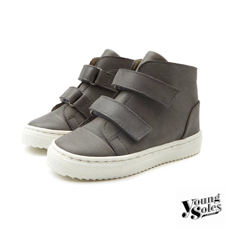 Velcro Sneaker Boot with Cup Sole Grey Baby