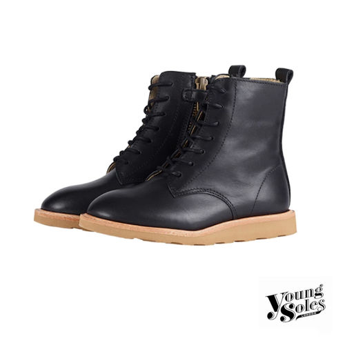 Rodney Derby Boot Black Leather