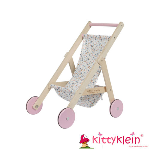 Little Dutch - Holz Puppenbuggy – Spring Flowers