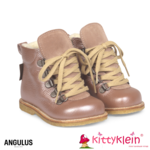 Angulus Starter Boot with lace and hole Pattern lila