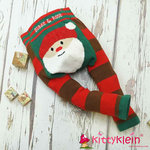 Santa Fluffy Christmas leggings Blade & Rose