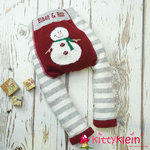 Fluffy Snowman Christmas Leggings Blade & Rose