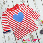 Stripes & Blue Heart Top Blade & Rose
