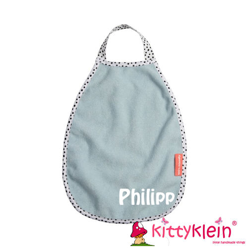 Pullover terry bib Happy dots Blue | 1393925 | done by deer, Lätzchen blau | kittyklein®