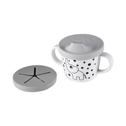 Silicone spout/snack cup Elphee Grey, done by deer, Trinkbecher | kittyklein®