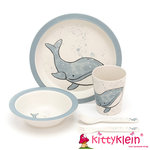 Kindergeschirr | My Friend Whale Bamboo Set | Jellycat | kittyklein®