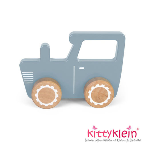 Little Dutch | Holz Traktor | Adventure blue | LD4377 | kittyklein®