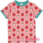 Top SS | STRAWBERRY | Erdbeeren | rosa rot T-Shirt | Maxomorra | kittyklein ®